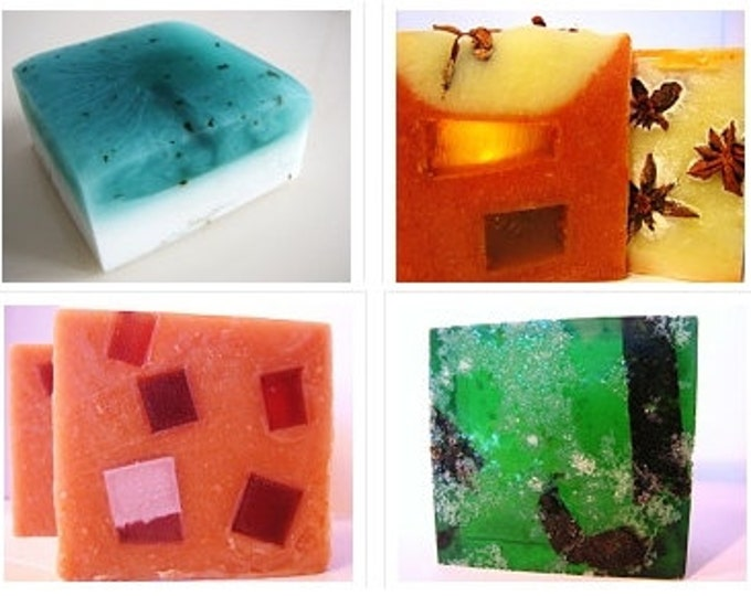 SOAP -4 handmade soaps, pick any 4. Vegan handmade soap, soap gift, soap set, cold process soap