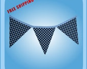 Checkered Party Pennant Party Banner