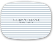 Personalized Melamine Platter Topographic locations