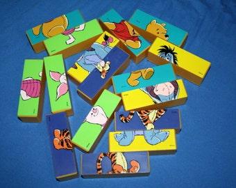 Vintage Disney Winnie the Pooh and Friends Puzzle Blocks