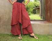 Hibiscus...Autumn pants All colors mixed silk (one size fits S-L)(1193)