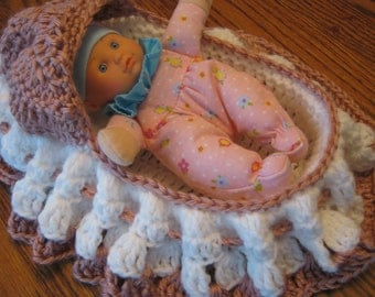 Cradle Purse, Church Purse with Doll - Custom colors