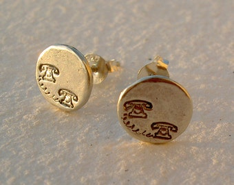 Pendientes telefonillos/ Little telephone earrings