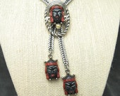 Vintage Selro Necklace Red Asian Princess Jewelry N5010