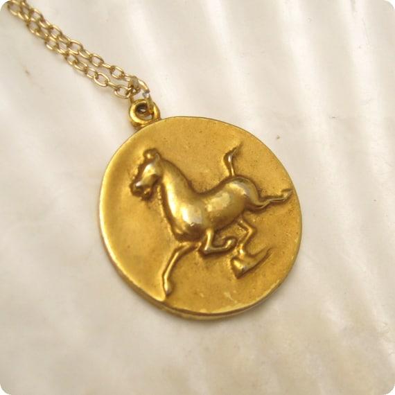 Horse of Gansu Necklace ALVA Museum Replica 1974 N4965