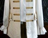 MADE TO ORDER Mens Renaissace Pirate Costume Wedding Waistcoat, Ivory