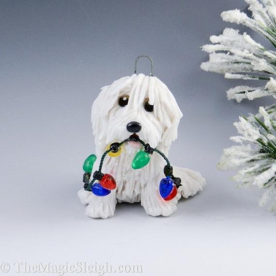 Coton de Tulear Ornament Christmas Lights Porcelain