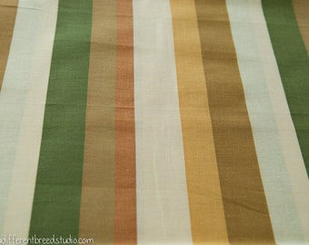 Big Bold Autumn Color Stripe - Vintage Fabric Mod 60s 70s New Old Stock
