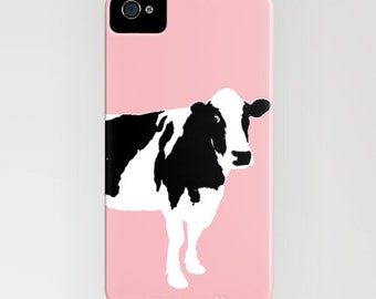 Cow on pink on Phone Case -  pink, color, robust, iPhone 5 iPhone 5C, iPhone 6S, iPhone 6 Plus, Cow gifts, Gifts for her, Gift Ideas