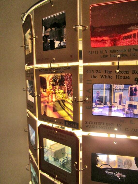 Kodachrome See America First, 35mm slide lamp shade vintage travel