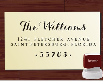 Calligraphy Handwriting Script Custom Return Address Stamp - Personalized SELF INKING Wedding Stationery Stamper - Style 9020J