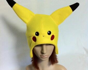 Pokemon Pikachu Fleece Earflap Beanie