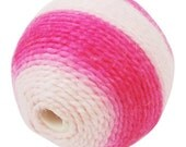 5ct Pink Thread Woven Beads 21mm