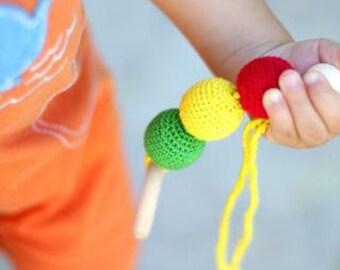 Teething toy, crochet teether, eco friendly teether