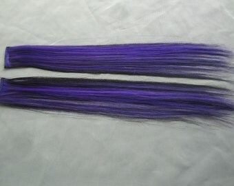 Purple and Black Clip in Extensions