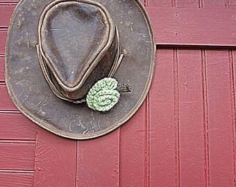 Mint Green Flower Pin