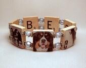 BERNESE MOUNTAIN Dog Bracelet / SCRABBLE / Handmade Jewelry / Dog Lover Gift