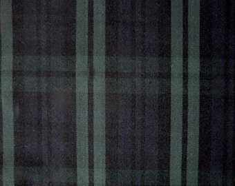 Black Watch Tartan Plaid Fabric For Home Decorating Apparel Green Blue Black