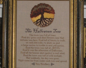 Ray Bradbury Halloween Tree StoryTown Full of Boys Dry Grass Dead Flowers Wind Ravine Autumn Cold Sunlight Night Came Out Embroidery