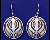 Khanda- Sterling Silver- Earrings