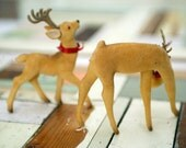 Felted Holiday deer with antlers