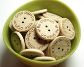 1 Inch Custom Engraved Buttons With Your Shop Name or Logo, 24 per Set