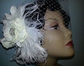 Bee Vintage Honey Final Deposit Reserved bridal wedding fascinator flower birdcage veil netting custom order page