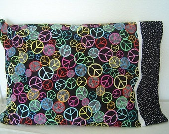 PEACE SIGNS  Pillowcase
