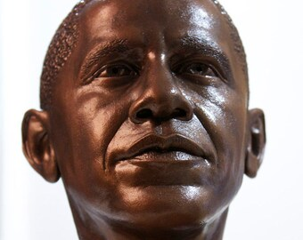 Bronze style Obama Bust