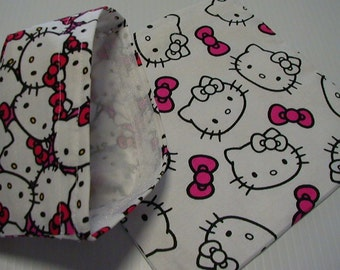 2pc  Reusable Sandwich and Snack Bag  Set Red White Black Hello Kitty