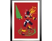 Mega Man Zero Splattery Poster