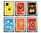 Robot Masters of Mega Man 1 Set of 6 Posters