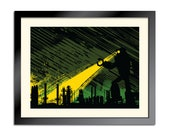 Monstrous Robot Marches On the Factory 18x24 limited-run poster