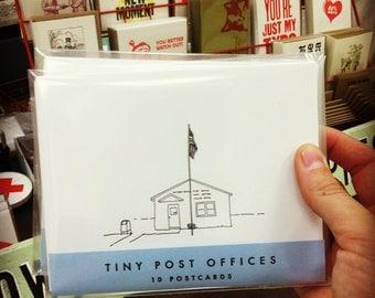 Tiny Post Offices letterpress postcards