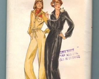 Butterick 5131 Jumpsuit Vintage Sewing Pattern Misses Size 10 Mod Retro UNCUT