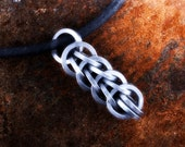 Mens Sterling Silver Pendant Necklace