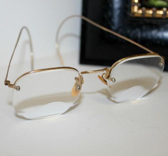 Vintage B&L Eyeglasses Gold Wire Octagon Bausch Lomb
