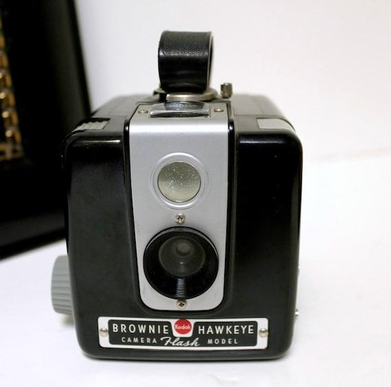 vintage kodak brownie hawkeye camera flash model with box and. Black Bedroom Furniture Sets. Home Design Ideas