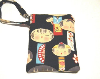 Kokeshi handmade cellphone mobile phone gadget case