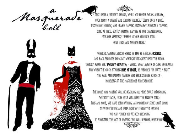 Items similar to Masquerade Ball Halloween Invitation