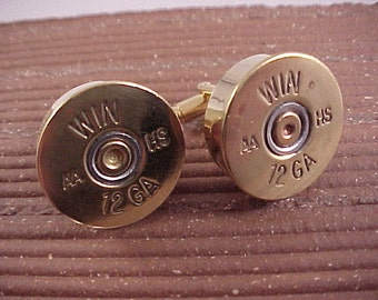 Shotgun Cufflinks / Winchester 12 Gauge Shotgun Cuff Links / Wedding Cufflinks / Groomsmen Gift / Gifts For Men / Fathers Day Gift