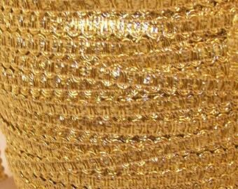 Gold Metallic Gimp  - Trim Me Up 5 Yards Destash