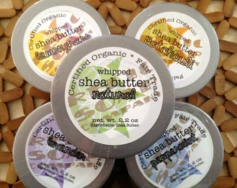 Unscented Whipped Organic Shea Butter - 1 oz. jar