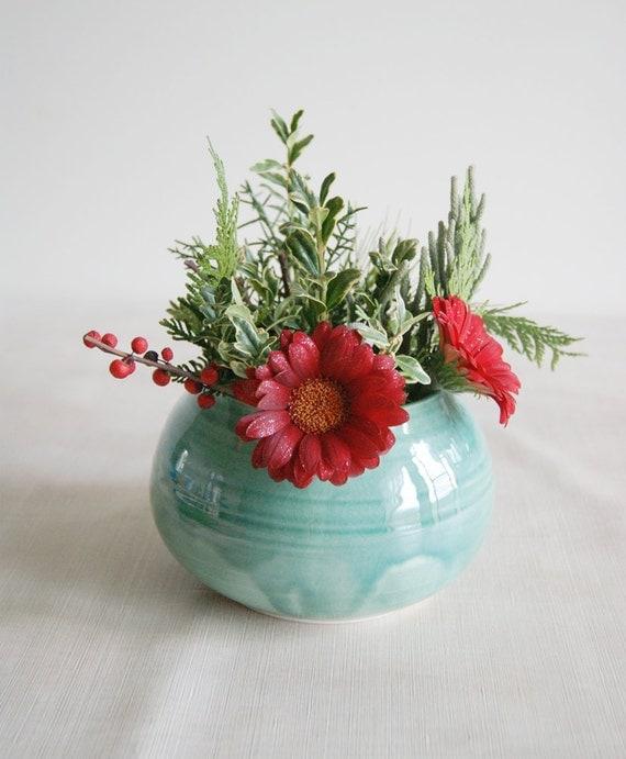 Turquoise Vase - Reserved for Karen