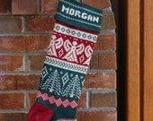 Personalized Handmade Christmas Stocking, Angel