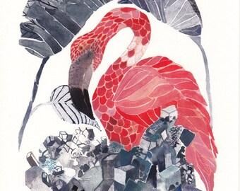 Flamingo and Salt - Archival Print