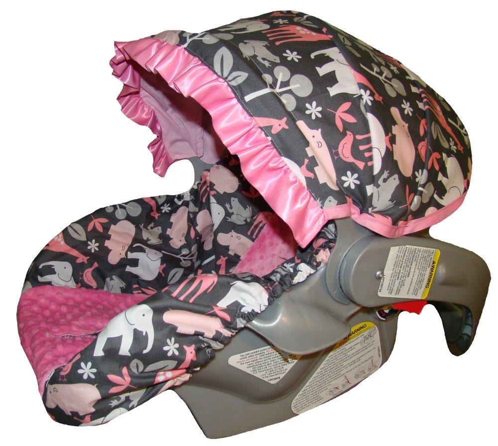 Infant Car Seat Cover Baby Car Seat Cover Pink By Sassycovers