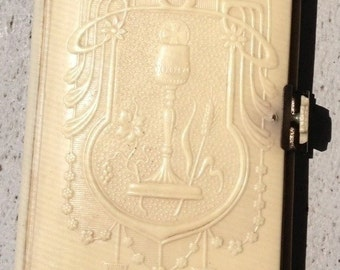 Antique French Bible, a confirmation gift from 1938