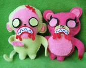 Frankenfriends plush zombie monkey and bear