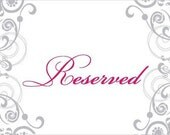 Custom reserved Listing for Adele